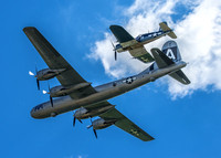 The only flying B29 and Hellcat