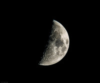 2014July04_ first quarter moon-47% illuminated Wanning Gibbous