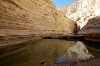 Converging canyon walls in the Negev